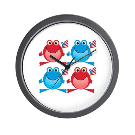 Four Freedom Frogs: Wall Clock