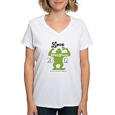 NEW Love them GREENS Women's V-Neck T-Shirt