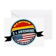German American 2x Awesome Greeting Card