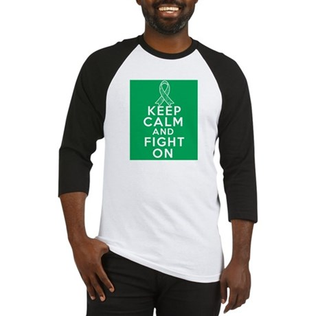 Liver Cancer Keep Calm Fight On Baseball Jersey