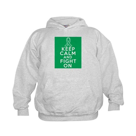 Liver Cancer Keep Calm Fight On Kids Hoodie