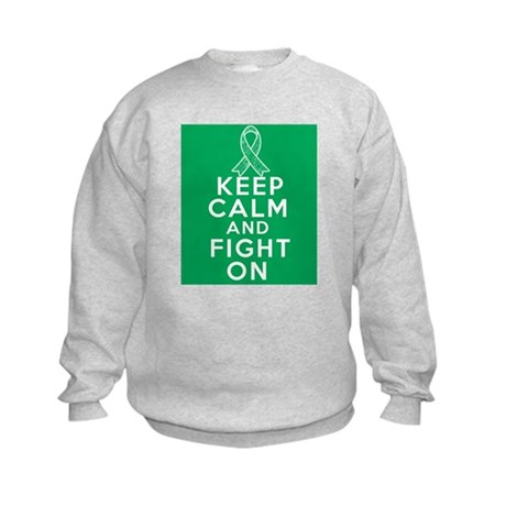 Liver Cancer Keep Calm Fight On Kids Sweatshirt
