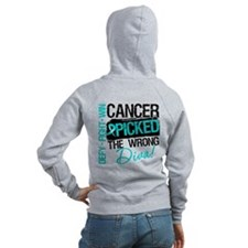 Wrong Diva Ovarian Cancer Zip Hoodie