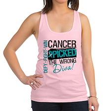 Wrong Diva Ovarian Cancer Racerback Tank Top