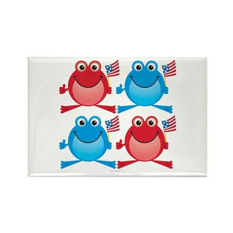 Four Freedom Frogs: Rectangle Magnet