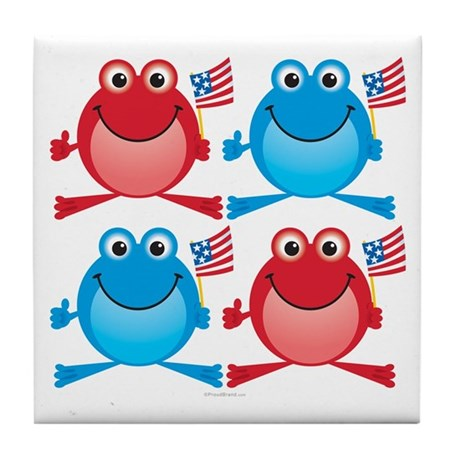 Four Freedom Frogs: Tile Coaster