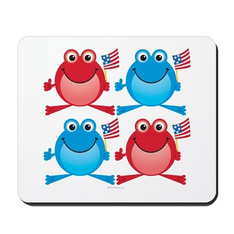 Four Freedom Frogs: Mousepad