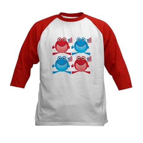 Four Freedom Frogs: Kids Baseball Jersey