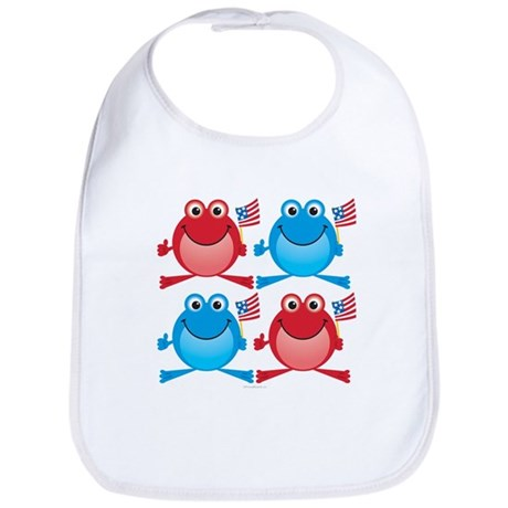 Four Freedom Frogs: Bib