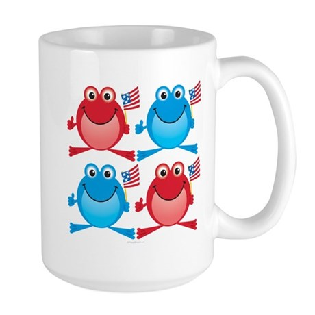 Four Freedom Frogs: Large Mug