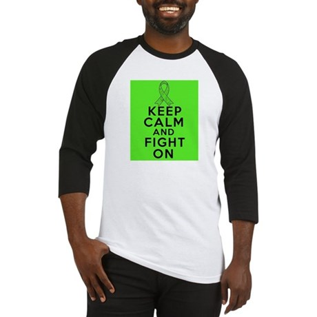 Lymphoma Keep Calm Fight On Baseball Jersey