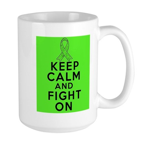 Lymphoma Keep Calm Fight On Large Mug