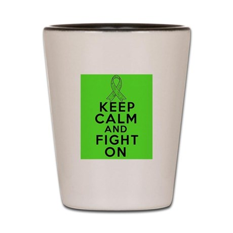 Lymphoma Keep Calm Fight On Shot Glass