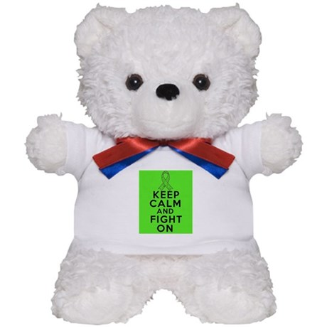 Lymphoma Keep Calm Fight On Teddy Bear