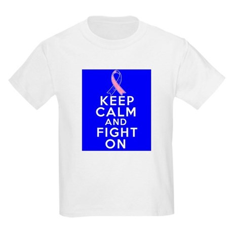 Male Breast Cancer Keep Calm Fight On Kids Light T