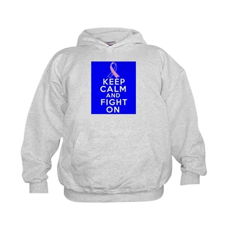 Male Breast Cancer Keep Calm Fight On Kids Hoodie