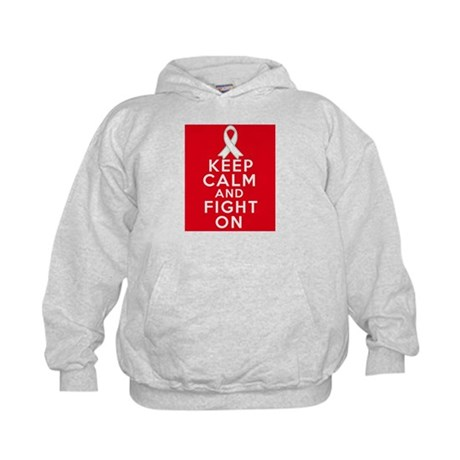 Mesothelioma Keep Calm Fight On Kids Hoodie