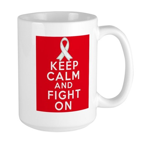 Mesothelioma Keep Calm Fight On Large Mug