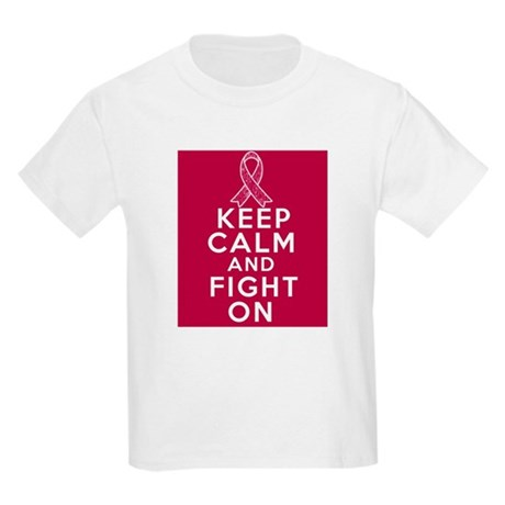Multiple Myeloma Keep Calm Fight On Kids Light T-S