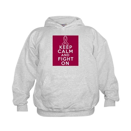 Multiple Myeloma Keep Calm Fight On Kids Hoodie