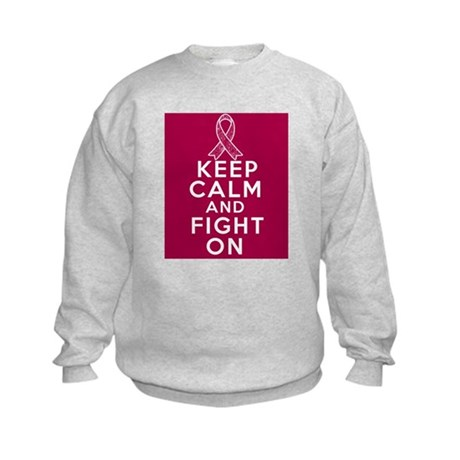 Multiple Myeloma Keep Calm Fight On Kids Sweatshir