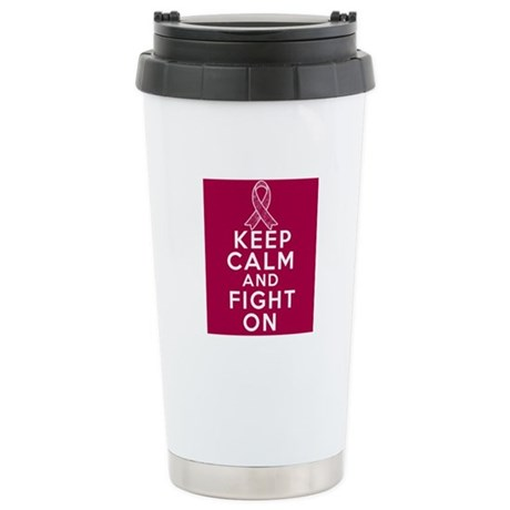 Multiple Myeloma Keep Calm Fight On Ceramic Travel