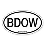BDOW Barred Owl Alpha Code Sticker (Oval)