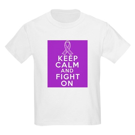 Pancreatic Cancer Keep Calm Fight On Kids Light T-