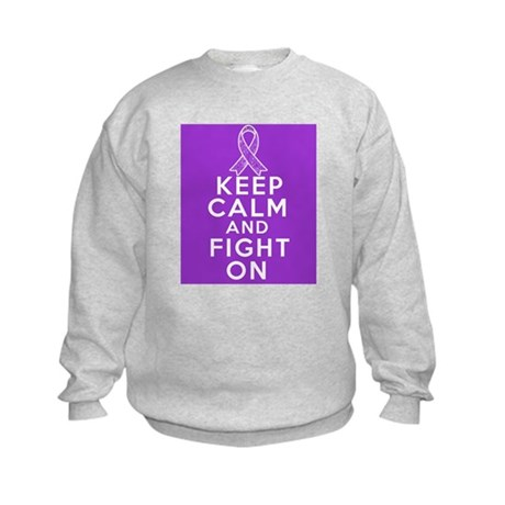 Pancreatic Cancer Keep Calm Fight On Kids Sweatshi