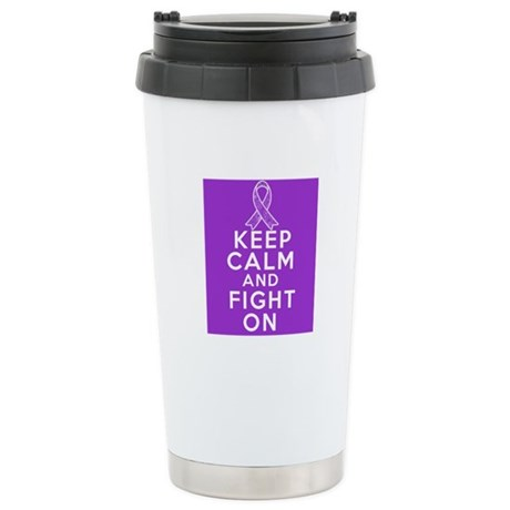 Pancreatic Cancer Keep Calm Fight On Ceramic Trave