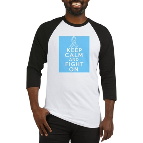 Prostate Cancer Keep Calm Fight On Baseball Jersey
