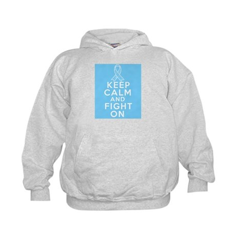 Prostate Cancer Keep Calm Fight On Kids Hoodie