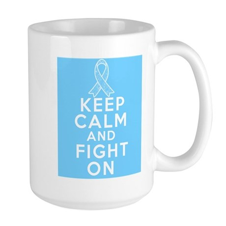 Prostate Cancer Keep Calm Fight On Large Mug
