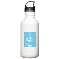Prostate Cancer Keep Calm Fight On Sports Water Bottle