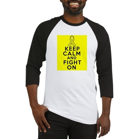 Sarcoma Keep Calm Fight On Baseball Jersey