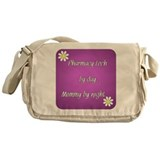 Pharmacy Tech by day Mommy by night Messenger Bag