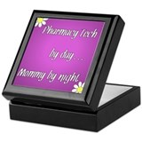 Pharmacy Tech by day Mommy by night Keepsake Box