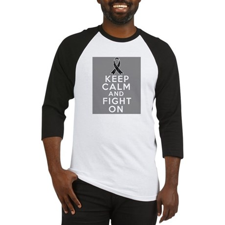 Skin Cancer Keep Calm Fight On Baseball Jersey