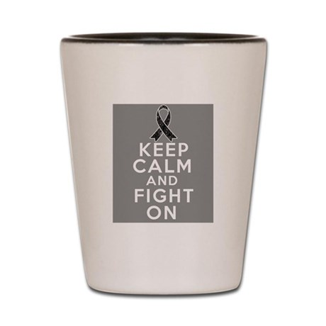 Skin Cancer Keep Calm Fight On Shot Glass