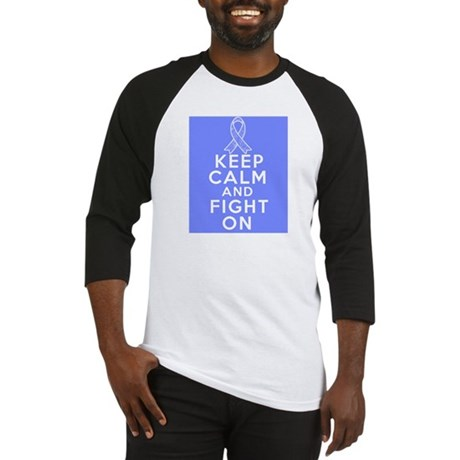 Stomach Cancer Keep Calm Fight On Baseball Jersey