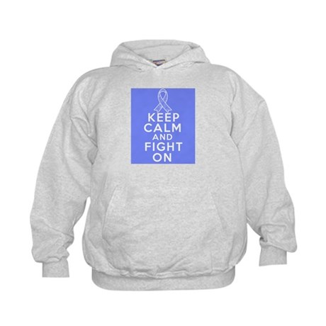 Stomach Cancer Keep Calm Fight On Kids Hoodie