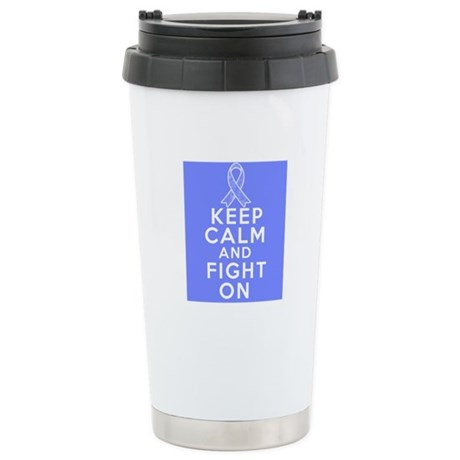 Stomach Cancer Keep Calm Fight On Ceramic Travel M