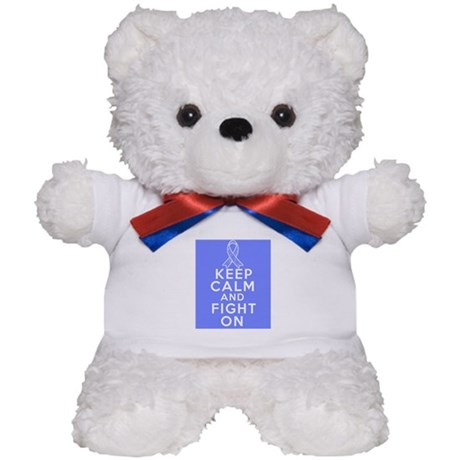 Stomach Cancer Keep Calm Fight On Teddy Bear