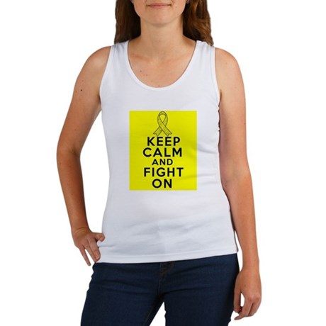 Testicular Cancer Keep Calm Fight On Women's Tank