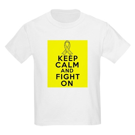 Testicular Cancer Keep Calm Fight On Kids Light T-