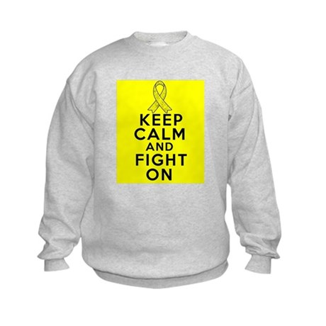 Testicular Cancer Keep Calm Fight On Kids Sweatshi