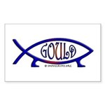 Gould Fish! Not Darwin Fish. Rectangle Sticker