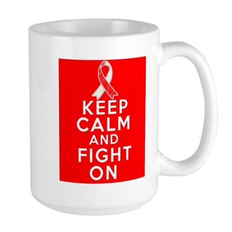 Oral Cancer Keep Calm Fight On Large Mug