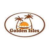 Golden Isles GA - Palm Trees Design. Wall Decal