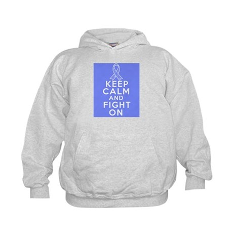 Intestinal Cancer Keep Calm Fight On Kids Hoodie